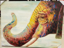 Oil Painting Elephant