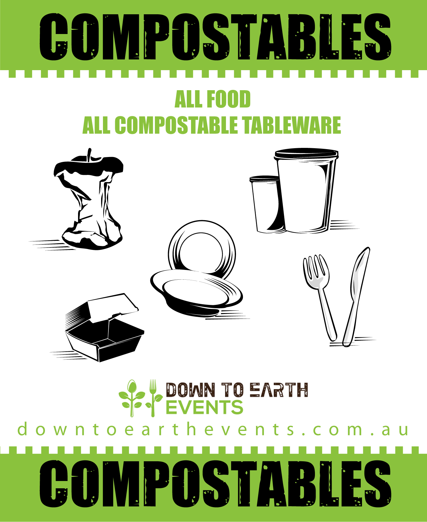 Compostables Bin Signs