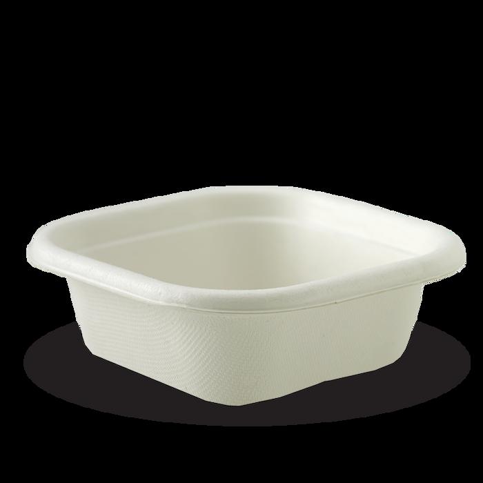 280ml square sugarcane bowls
