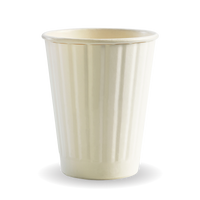 8oz double wall white cups