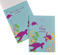 Sea Turtles Party Invitations - Pad of 20