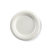 150mm white sugarcane plates (extra small)