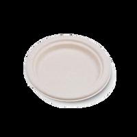 180mm Round Natural Bamboo Pulp Plates (small)