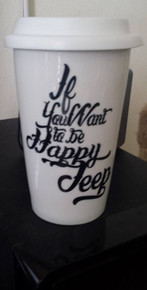 Ceramic Travel Mug- Jeep Happy