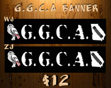 G.G.C.A. Windshield Banner