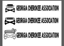 Georgia Cherokee Association Windshield Banner