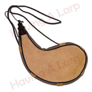 Wineskin, waterskin or Bota bag, it's important to stay hydrated when out adventuring. It's easy to take your own drink with a water bag.  It has got a long cord, for carrying, and a plastic cap (on a retaining cord) that that seals it quite reliably