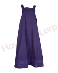 Limited Edition Colours -  Herringbone Apron Dress with Embroidery