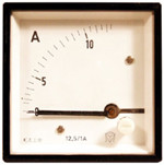 Panel Mount Ammeter, 0-100mA DC