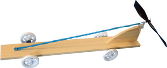 KELVIN® Rubberband & Propeller Car Kit