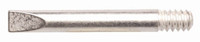 Thread-In Chisel Tip, Silver-Plated