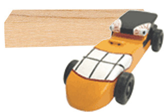 KELVIN® Downhill Racer™ Car Kit with Balsa Blank