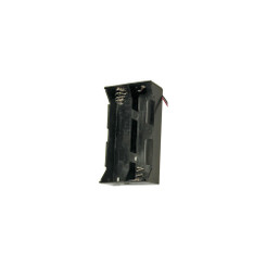Plastic Battery Holder with Leads - D, 4