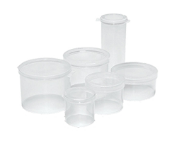 Small Round Plastic Hinged Lid Containers