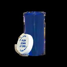 6 Dram Blue Prescription Pill Bottle PCR6NB