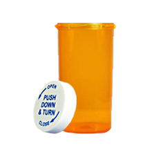13 Dram Amber Prescription Pill Bottle PCR13NA