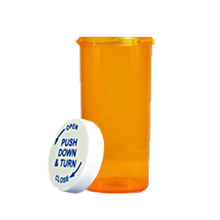 8 Dram Amber Prescription Pill Bottle PCR8NA
