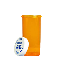 6 Dram Amber Prescription Pill Bottle PCR6NA