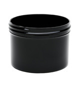 8 oz Black Plastic Jar REGULAR WALL 8-89-BPP