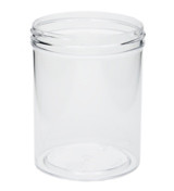 8 oz Clear Plastic Jar REGULAR WALL 8-70-CPS