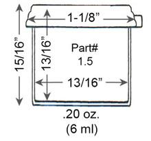 1.5 Dram Vial Dimensions