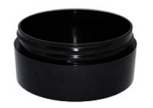 2 oz Black Plastic Jar THICK WALL 2-70-TW-BPP