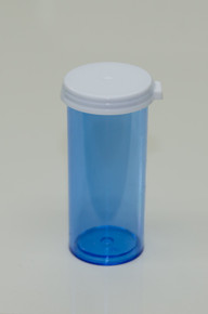 5 Dram  Blue Plastic Vial