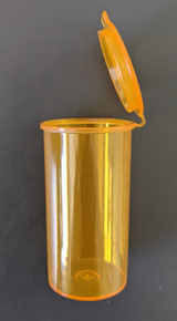 1-1/2 oz. Amber Hinged Lid Container