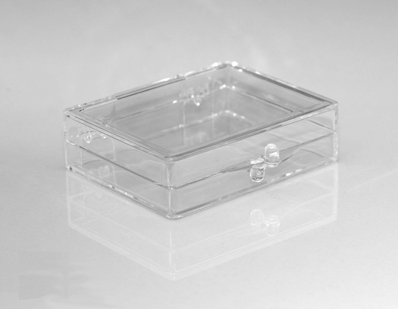 2 1 8 X 1 5 8 X 1 2 Small Plastic Box With Hinged Lid 208