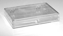 "Plastic Hinged Lid Box - 3-9/16"" x 2-9/16"" x 1/2"""
