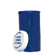 13 Dram Blue Prescription Pill Bottle PCR13NB