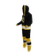 Boston Bruins onesie pajamas by Hockey Sockey - 60 degree side view