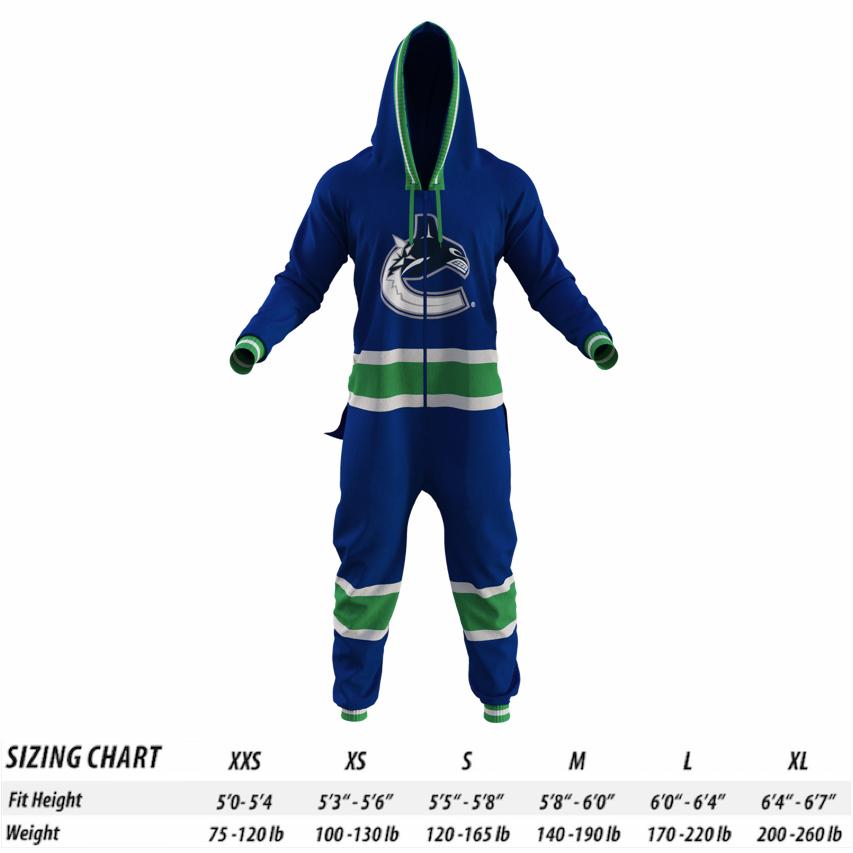 4ffcc7fac Vancouver Canucks Onesies | Adult NHL Onesie for Men & Women