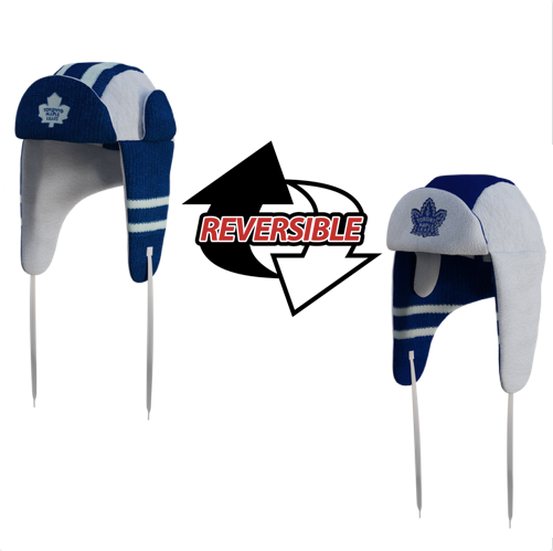8d3964ce4a195 Toronto Maple Leafs NHL Reversible Trapper. 2 Winter Hats in One. Loading  zoom