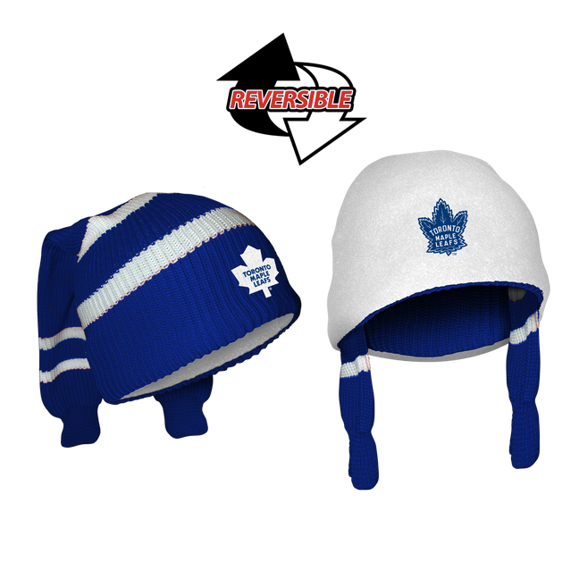 b4161c0a4f7f1 Toronto Maple Leafs NHL Reversible Sockey. 2 Winter Hats in One! Loading  zoom