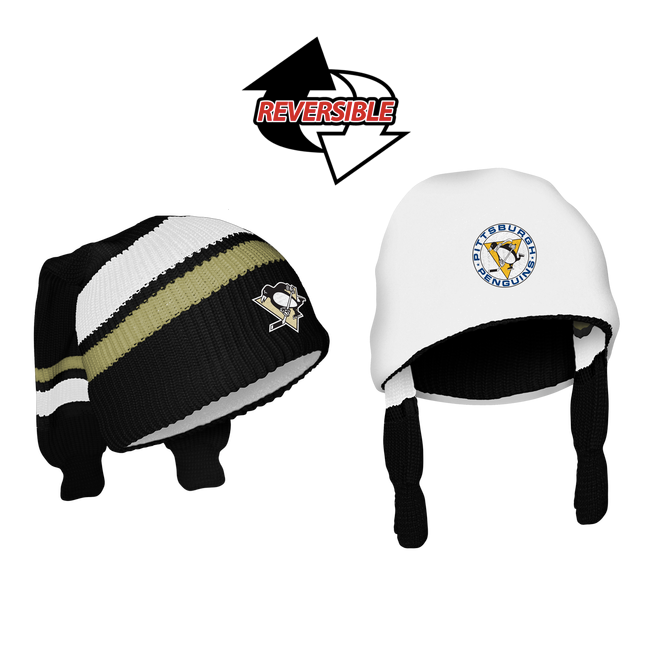 3acc8464 Reversible Pittsburgh Penguins Winter Hat   NHL Sockey Beanies