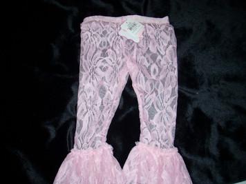 Lace Leggings Pink 9-12mo