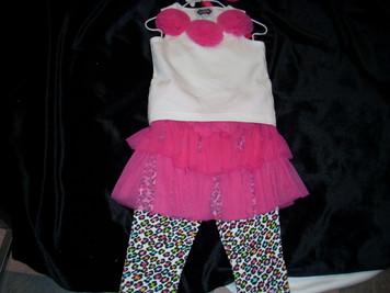 Leopard Skirt Set