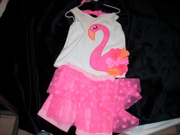 Flamingo Skirt Set