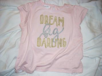 Dream Big Darling Shirt Pink Small (12-18mo)