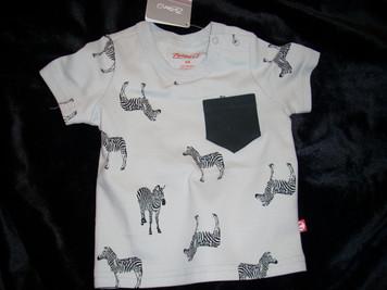 Light Grey Zebra Pocket R Shirt 6 mo