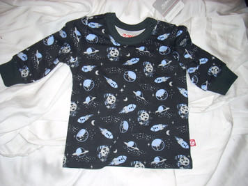 Black Lost in Space Crewneck T Shirt 6mo