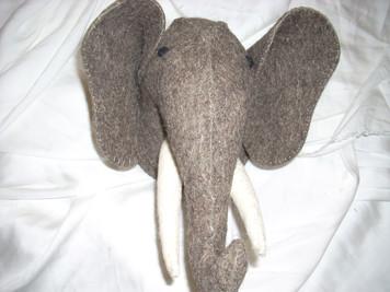 Felt Safari Wall Mount Elephant