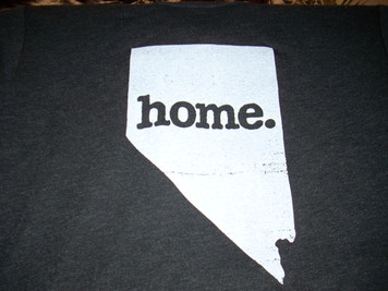 Adult Nevada Home T Shirt Black