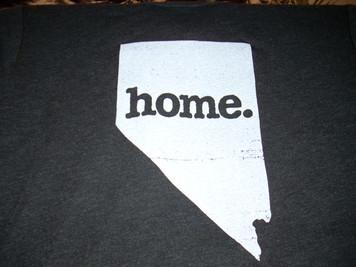 Adult Nevada Home T Shirt Black