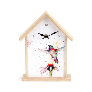 Humming Bird Birdhouse Clock