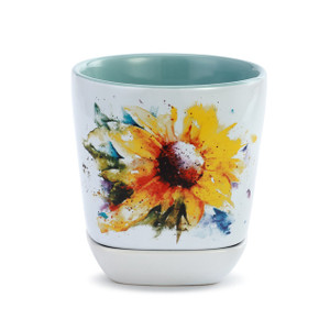 Sunflower Cup and Trinket Set