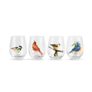 Songbirds Stemless Wine Glasses