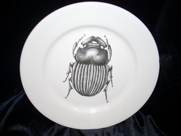 Black Beetle Bread Plate Small