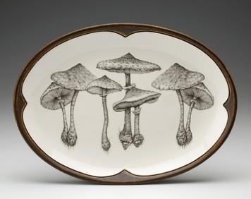 Laura Zindel Parasol Mushroom Large Oval Platter